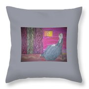 Whistler's Mother Throw Pillow