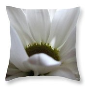 White Beauty Throw Pillow