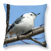 White-breasted Nuthatch Throw Pillow