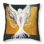 White Dove  Throw Pillow