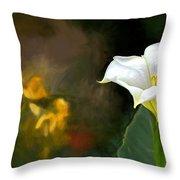 Awakening Flower Throw Pillow