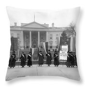 White House: Suffragettes Throw Pillow