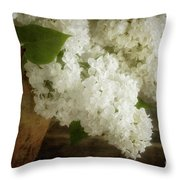 White Lilac Throw Pillow