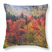 White Mountain Foliage Throw Pillow