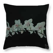 White Orchids No.2 Throw Pillow