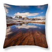 White Pocket Northern Arizona Throw Pillow