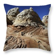 White Pockets 2358 Throw Pillow