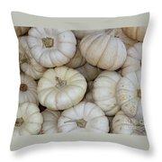 White Pumpkins Throw Pillow
