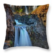 White River Falls State Park Throw Pillow