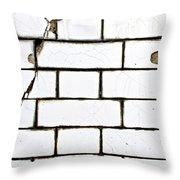 White Tiles Throw Pillow