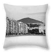 White Tower Of Thessaloniki Throw Pillow