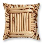 Wicker Basket Throw Pillow