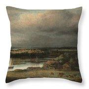 Wide River Landscape Throw Pillow