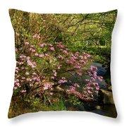 Wild Piedmont Azalea Throw Pillow