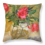 Wild Roses Throw Pillow