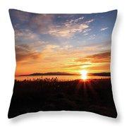 Willard Bay Sunset Throw Pillow