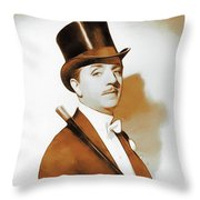 William Powell, Hollywood Legend Throw Pillow