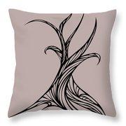 Willow Curve Throw Pillow
