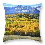 Wilson Mesa And Mt. Wilson Throw Pillow