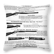 Winchester Rifles Throw Pillow