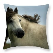 Wind In The Mane Throw Pillow
