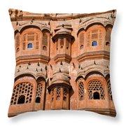 Wind Palace - Jaipur Throw Pillow