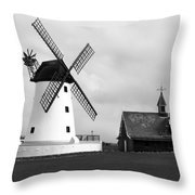 Windmill At Lytham St. Annes - England Throw Pillow