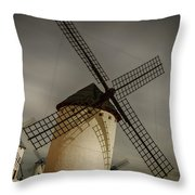 Windmills At Campo De Criptana Throw Pillow