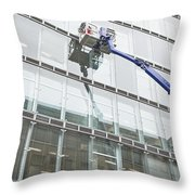 Window Cleaning Throw Pillow