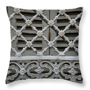 Window Grill In Toulouse Throw Pillow