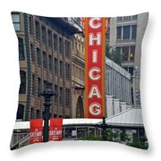Windy City Theater Throw Pillow