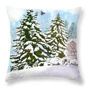 Winter Delight Throw Pillow