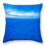 Winter Dusk Throw Pillow