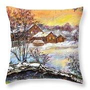 Winter Evening. Throw Pillow