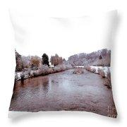 Winter In England  Throw Pillow
