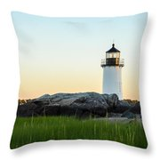 Winter Island Lighthouse, Salem Ma Throw Pillow