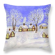 Winter Landscape, Painting Throw Pillow
