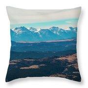 Winter Sangre De Cristo Mountains Throw Pillow