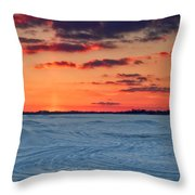 Winter Sun Has Set Throw Pillow