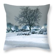 Winter Throw Pillow by Svetlana Sewell