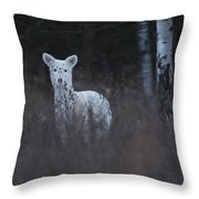 Wintery White Throw Pillow