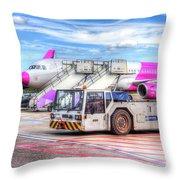 Wizz Air Airbus A321 Throw Pillow