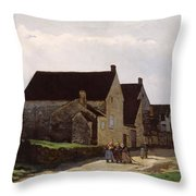 Women Going To The Woods Throw Pillow