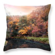Woodland River Throw Pillow