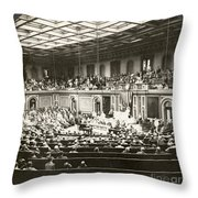 Woodrow Wilson (1856-1924) Throw Pillow