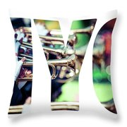 Word Nyc Parade In New York. Throw Pillow