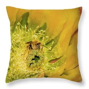 Working Bee Throw Pillow by Allen Sheffield