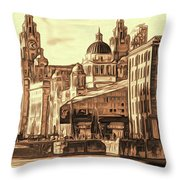 World Famous Three Graces Throw Pillow