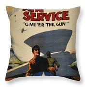 World War I: Air Service Throw Pillow by Granger