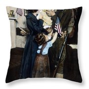 World War I: Deployment Throw Pillow